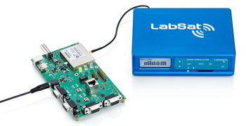 LabSat Wideband conncted to GNSS engine